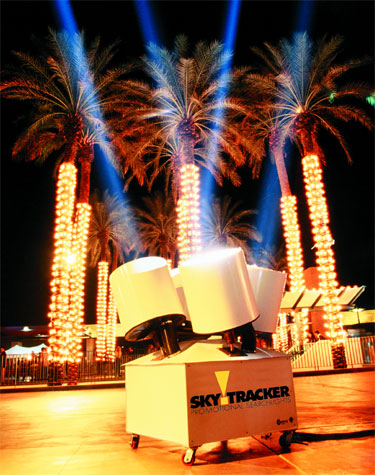 Promotional Searchlight rental.  Spotlight rentals Florida FL