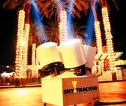 SkyTracker Searchlights Florida.  Rent Spotlights